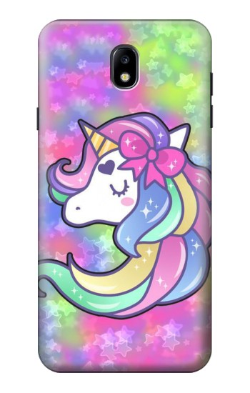 Printed Pastel Unicorn Samsung Galaxy J7 (2018) Case