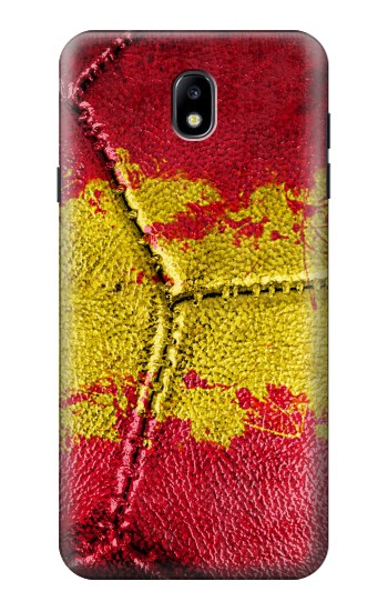 Printed Spain Flag Vintage Football 2018 Samsung Galaxy J7 (2018) Case