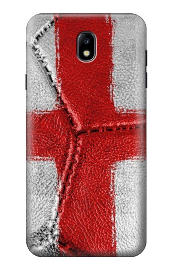 Printed England Flag Vintage Football 2018 Samsung Galaxy J7 (2018) Case