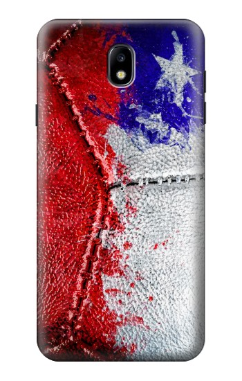 Printed Chile Flag Vintage Football 2018 Samsung Galaxy J7 (2018) Case