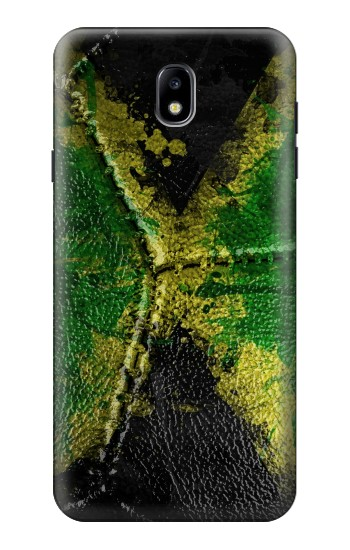 Printed Jamaica Flag Vintage Football 2018 Samsung Galaxy J7 (2018) Case