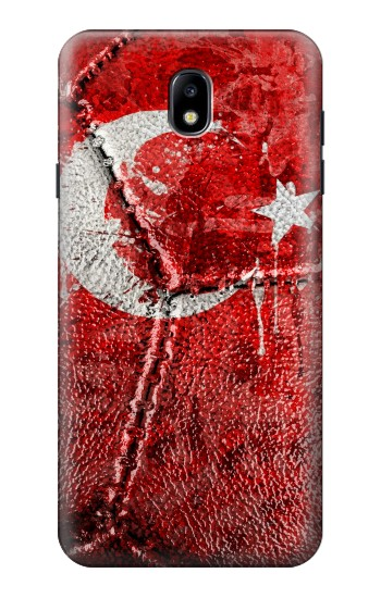 Printed Turkey Flag Vintage Football 2018 Samsung Galaxy J7 (2018) Case