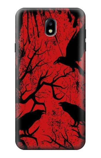 Printed Crow Black Tree Samsung Galaxy J7 (2018) Case