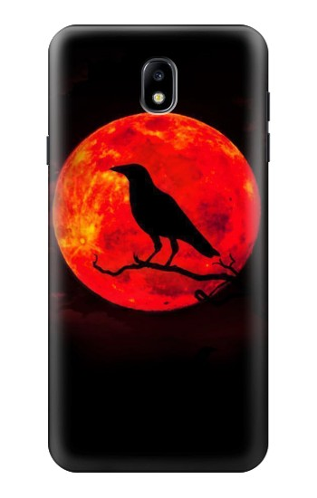 Printed Crow Red Moon Samsung Galaxy J7 (2018) Case