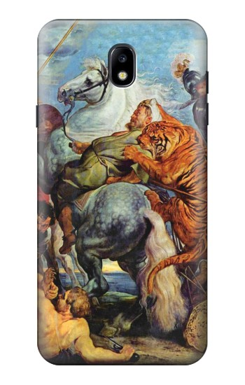 Printed Peter Paul Rubens Tiger und Lowenjagd Samsung Galaxy J7 (2018) Case