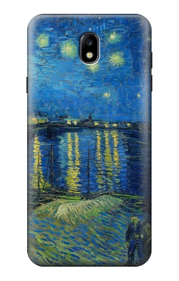 Printed Van Gogh Starry Night Over Rhone Samsung Galaxy J7 (2018) Case