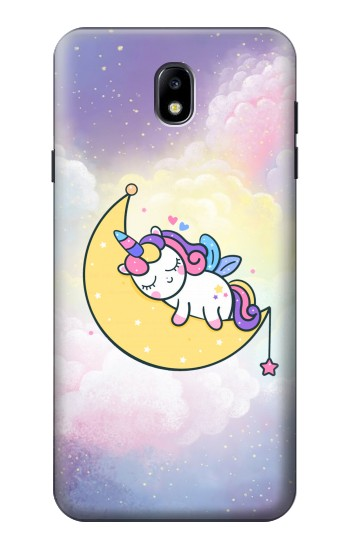 Printed Cute Unicorn Sleep Samsung Galaxy J7 (2018) Case