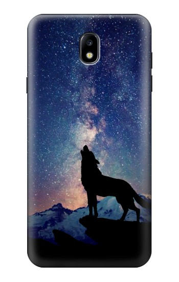Printed Wolf Howling Million Star Samsung Galaxy J7 (2018) Case