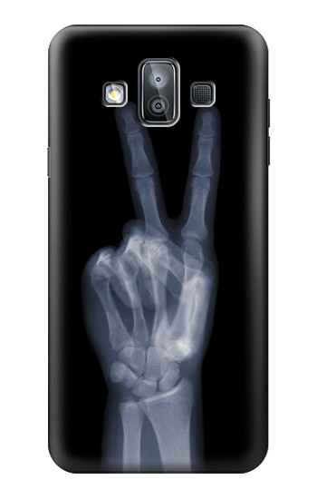 Printed X-ray Peace Finger Samsung Galaxy J7 Duo Case