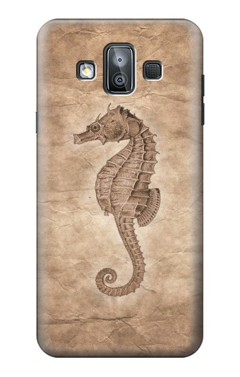 Printed Seahorse Old Paper Samsung Galaxy J7 Duo Case