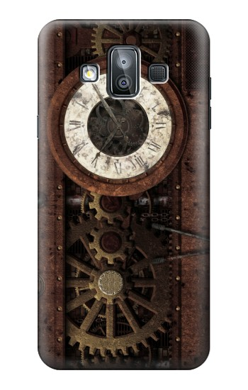 Printed Steampunk Clock Gears Samsung Galaxy J7 Duo Case