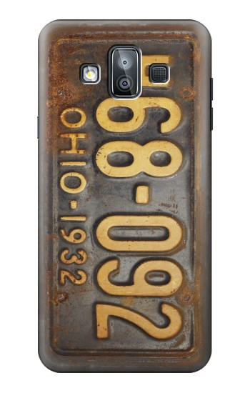 Printed Vintage Car License Plate Samsung Galaxy J7 Duo Case