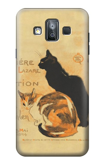 Printed Vintage Cat Poster Samsung Galaxy J7 Duo Case