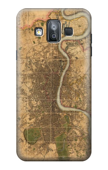 Printed Vintage Map of London Samsung Galaxy J7 Duo Case