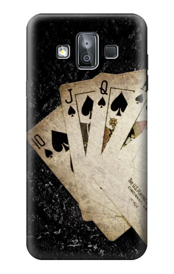 Printed Vintage Royal Straight Flush Cards Samsung Galaxy J7 Duo Case
