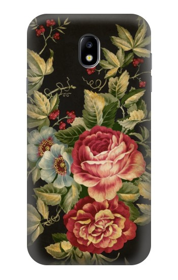 Printed Vintage Antique Roses Samsung Galaxy Core I8260 Case