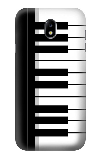 Printed Black and White Piano Keyboard Samsung Galaxy Core I8260 Case