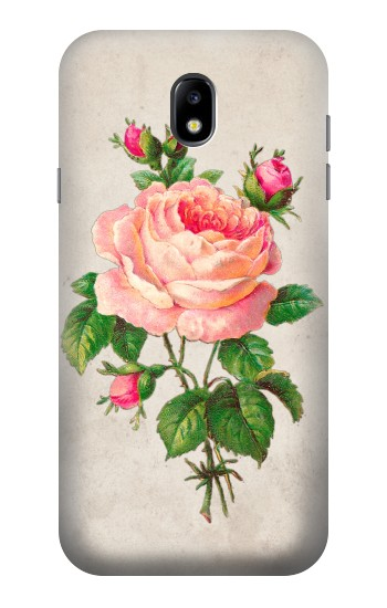 Printed Vintage Pink Rose Samsung Galaxy Core I8260 Case