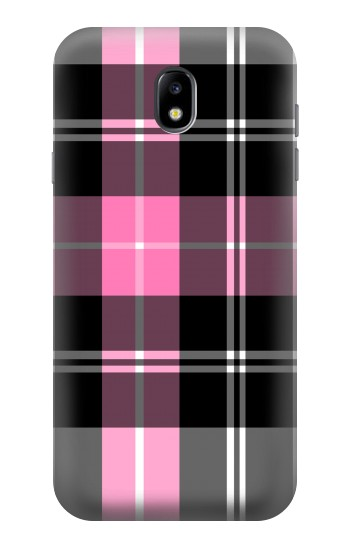Printed Pink Plaid Pattern Samsung Galaxy Core I8260 Case
