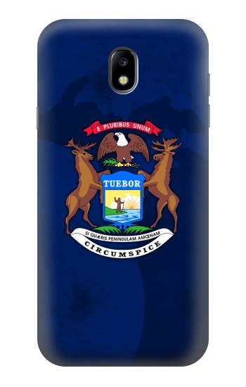 Printed State of Michigan Flag Samsung Galaxy Core I8260 Case