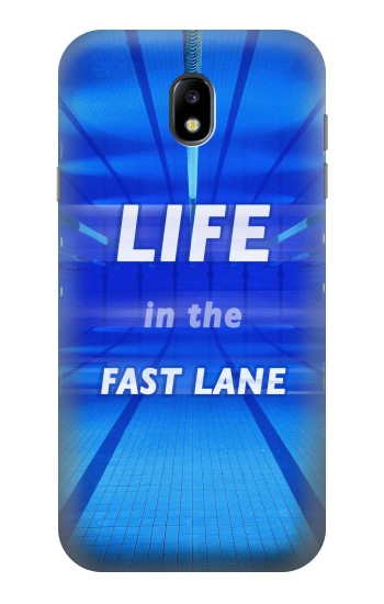 Printed Life in the Fast Lane Swimming Pool Samsung Galaxy Core I8260 Case