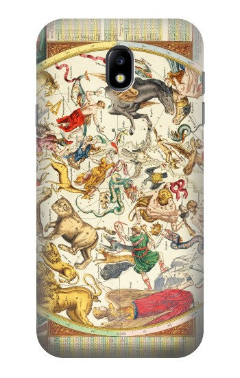 Printed Antique Constellation Map Samsung Galaxy Core I8260 Case