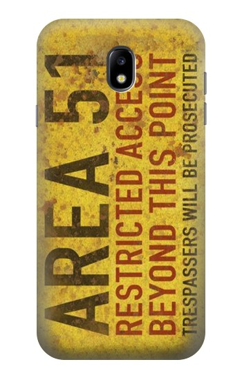 Printed Area 51 Restricted Access Warning Sign Samsung Galaxy Core I8260 Case