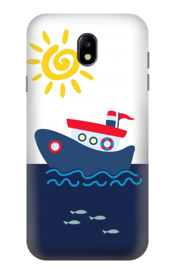 Printed Cartoon Fishing Boat Samsung Galaxy Core I8260 Case