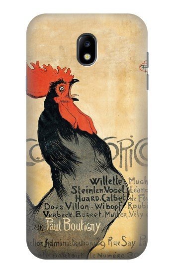 Printed Cocorico Rooster Vintage French Poster Samsung Galaxy Core I8260 Case