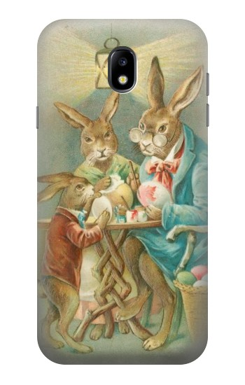 Printed Easter Rabbit Family Samsung Galaxy Core I8260 Case