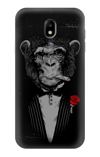 Printed Funny Monkey God Father Samsung Galaxy Core I8260 Case