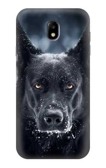 Printed German Shepherd Black Dog Samsung Galaxy Core I8260 Case