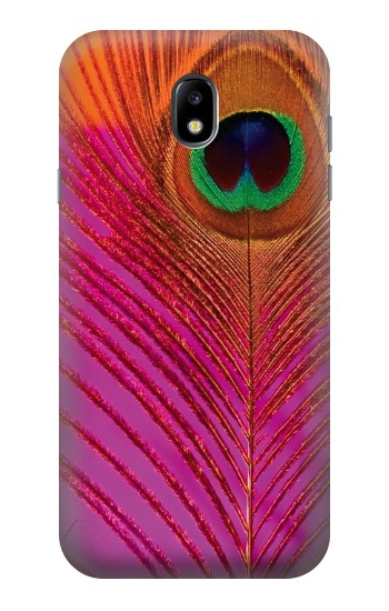 Printed Pink Peacock Feather Samsung Galaxy Core I8260 Case