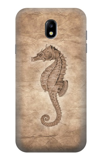 Printed Seahorse Old Paper Samsung Galaxy Core I8260 Case