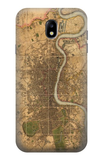 Printed Vintage Map of London Samsung Galaxy Core I8260 Case