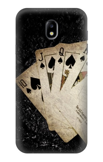 Printed Vintage Royal Straight Flush Cards Samsung Galaxy Core I8260 Case