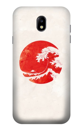 Printed Waves Japan Flag Samsung Galaxy Core I8260 Case