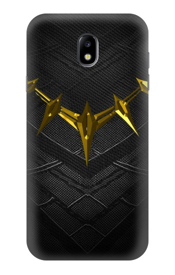 Printed Black Panther Inspired Costume Gold Necklace Samsung Galaxy Core I8260 Case