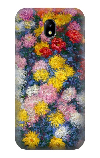 Printed Claude Monet Chrysanthemums Samsung Galaxy Core I8260 Case