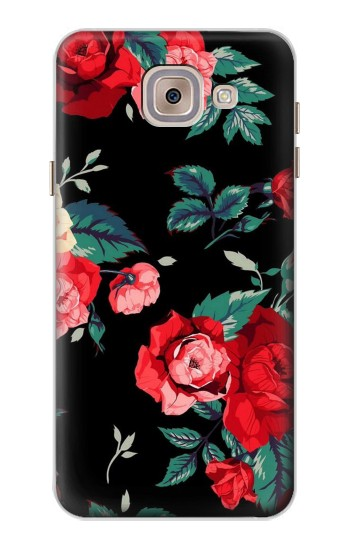 Printed Rose Floral Pattern Black Asus Zenfone 5 A500CG Case