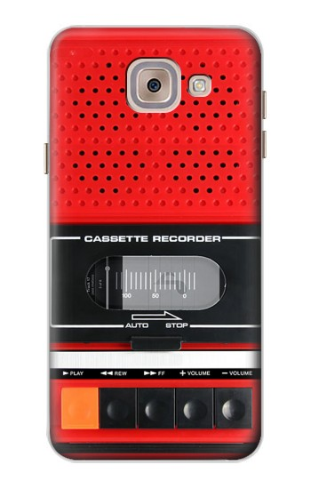 Printed Red Cassette Recorder Graphic Asus Zenfone 5 A500CG Case