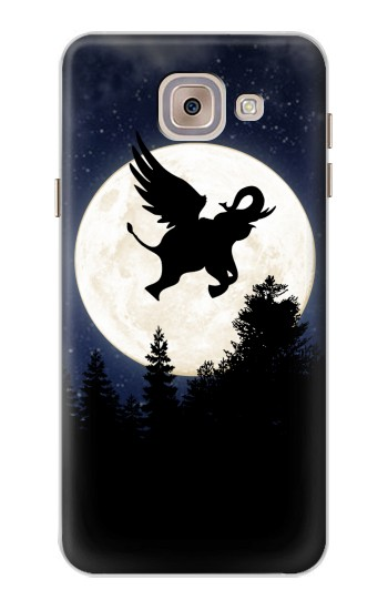 Printed Flying Elephant Full Moon Night Asus Zenfone 5 A500CG Case