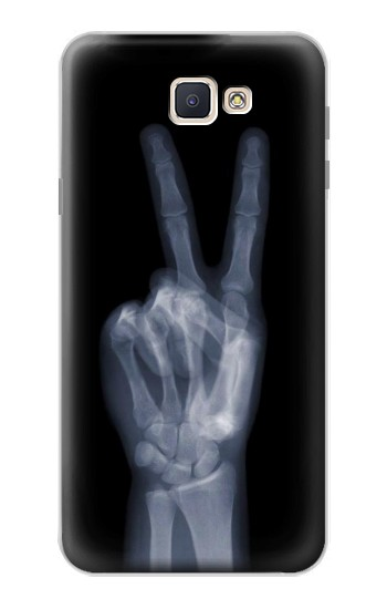 Printed X-ray Peace Finger Samsung Galaxy J7 Prime Case