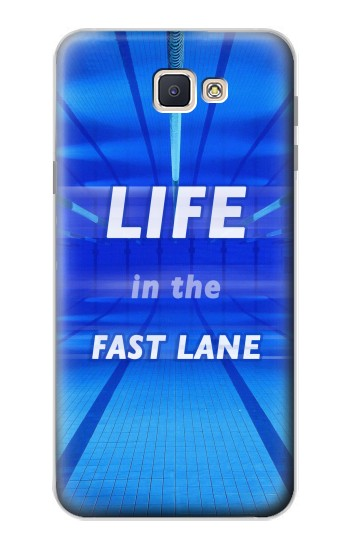 Printed Life in the Fast Lane Swimming Pool Samsung Galaxy J7 Prime Case