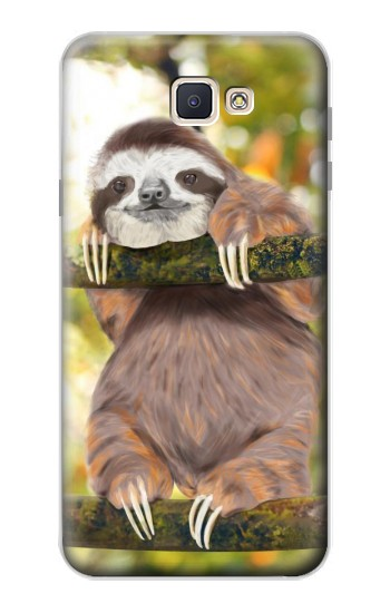 Printed Cute Baby Sloth Paint Samsung Galaxy J7 Prime Case