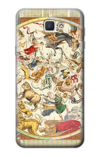 Printed Antique Constellation Map Samsung Galaxy J7 Prime Case