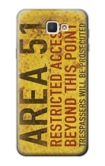 Printed Area 51 Restricted Access Warning Sign Samsung Galaxy J7 Prime Case