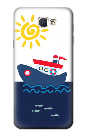 Printed Cartoon Fishing Boat Samsung Galaxy J7 Prime Case