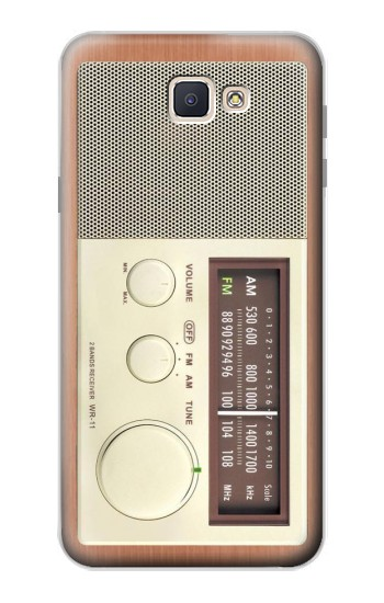 Printed FM AM Wooden Receiver Graphic Samsung Galaxy J7 Prime Case