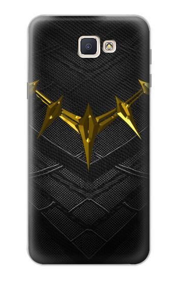 Printed Black Panther Inspired Costume Gold Necklace Samsung Galaxy J7 Prime Case